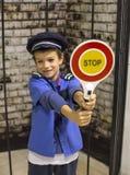 Ragazzo del poliziotto Fotografia Stock