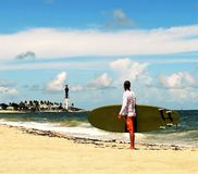 Ragazzo del surfista Fotografie Stock Libere da Diritti