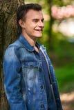 Ragazzo dell'adolescente all'aperto Fotografie Stock Libere da Diritti