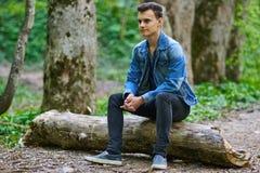 Ragazzo dell'adolescente all'aperto Fotografia Stock Libera da Diritti