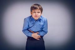 Ragazzo dell'adolescente 10 anni di aspetto europeo Fotografia Stock