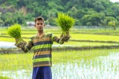 Ragazzo dell'agricoltore Fotografia Stock