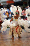 Ragazzo dell'isolano dello stretto di Torres in costume Fotografia Stock Libera da Diritti
