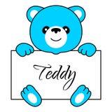 Ragazzo dell'orso del fumetto Immagini Stock