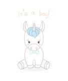 Ragazzo dell'unicorno del bambino illustrazione vettoriale