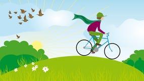 ragazzo della bicicletta Fotografia Stock