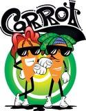 Ragazzo della carota del fumetto con la nuova acconciatura Immagine Stock Libera da Diritti