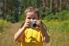 Ragazzo della macchina fotografica Fotografia Stock Libera da Diritti