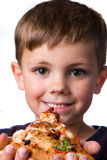 Ragazzo della pizza fotografie stock libere da diritti