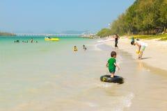 Ragazzo della spiaggia Fotografie Stock