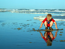 Ragazzo della spiaggia Fotografia Stock