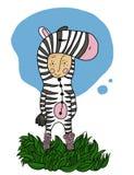 Ragazzo della zebra illustrazione vettoriale