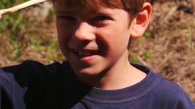 Ragazzo di 7 anni sorridente Immagine Stock