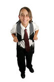 Ragazzo di banco felice Fotografia Stock