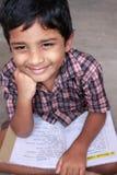 Ragazzo di banco indiano Fotografia Stock Libera da Diritti