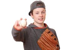 Ragazzo di baseball Fotografia Stock