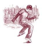 Ragazzo di Dancing Fotografia Stock Libera da Diritti