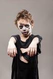 Ragazzo di grido del bambino dello zombie di morto che cammina Fotografia Stock Libera da Diritti