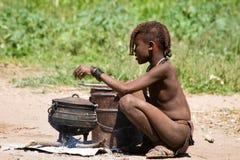 Ragazzo di Himba Immagini Stock