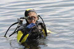 Ragazzo di immersione subacquea Immagine Stock Libera da Diritti