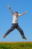 Ragazzo di salto Fotografie Stock