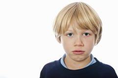 Ragazzo di scuola scontroso Immagini Stock Libere da Diritti