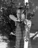Ragazzo di tiro con l'arco Fotografie Stock Libere da Diritti