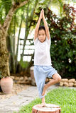 Ragazzo di yoga Fotografie Stock