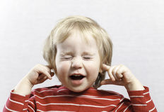 Ragazzo divertente della bionda del bambino del bambino di Portret Immagine Stock Libera da Diritti