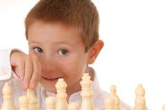 Ragazzo due di scacchi Fotografia Stock