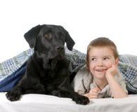 Ragazzo e cane Immagini Stock Libere da Diritti