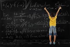 Ragazzo e per la matematica Fotografia Stock