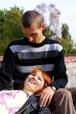 Ragazzo e ragazza Fotografia Stock Libera da Diritti