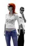 Ragazzo e ragazza Fotografie Stock Libere da Diritti