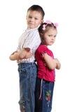 Ragazzo e ragazza Immagine Stock