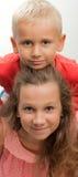 Ragazzo e ragazza Fotografia Stock