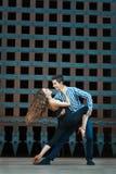 Ragazzo e ragazza appassionati di ballo Immagine Stock Libera da Diritti
