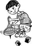 Ragazzo e Toys.Children. Fotografia Stock