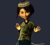 Ragazzo ebreo ballante Fotografia Stock