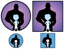 Ragazzo ed uomo royalty illustrazione gratis