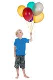 Ragazzo felice con gli aerostati Fotografia Stock Libera da Diritti