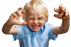 Ragazzo giovane di gioco sveglio Fotografia Stock