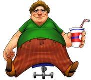 Ragazzo grasso Fotografia Stock