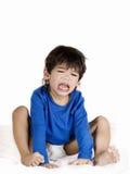 Ragazzo gridante arrabbiato del bambino Immagini Stock Libere da Diritti