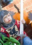 Ragazzo a Halloween Fotografia Stock Libera da Diritti
