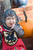 Ragazzo a Halloween Immagini Stock Libere da Diritti
