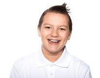 Ragazzo i sorrisi dell'adolescente isolati Immagine Stock Libera da Diritti