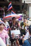 Ragazzo Ledy alla dimostrazione antigovernativa Tailandia Fotografia Stock