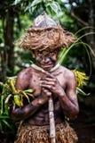 Ragazzo melanesiano Fotografia Stock Libera da Diritti