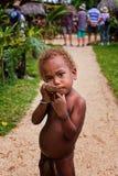 Ragazzo melanesiano Fotografie Stock Libere da Diritti